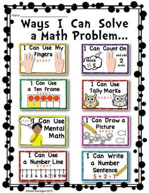 Ways I Can Solve a Math Problem
