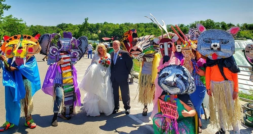 Wane White Endangered Species AP Art Parade Meets Newlyweds!