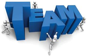 "Graphic of word ""team"""